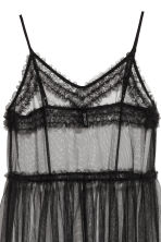 Transparent mesh dress - Black - Ladies | H&M 3