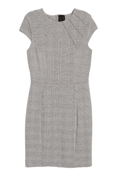 Fitted dress - Dark grey - Ladies | H&M