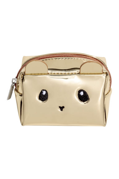 Mini pouch - Gold-coloured/Mouse - Ladies | H&M
