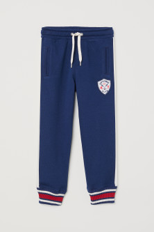 Joggers with an appliqué