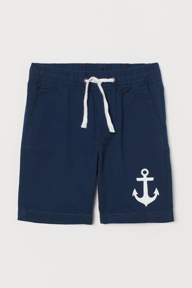 Twill shorts - Dark blue/Anchors - Kids   H&M GB
