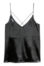 Satin strappy top - Black - Ladies | H&M 2