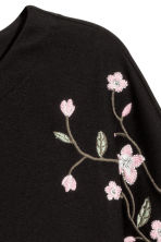 Top with embroidery - Black - Ladies | H&M IE 2