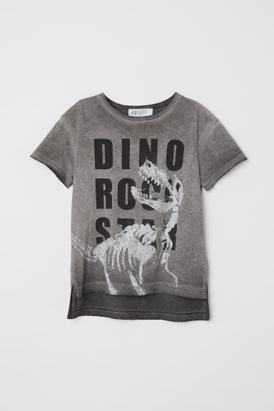 T-shirt com estampado - Nearly black/Dino rock star - CRIANÇA | H&M PT