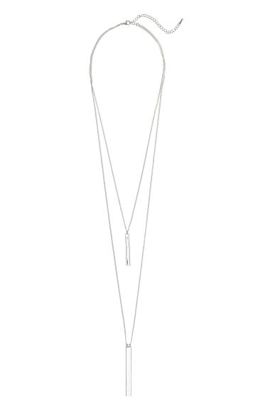 Two-strand necklace - Silver-coloured - Ladies | H&M CN 1