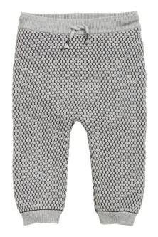 Textured-knit trousers