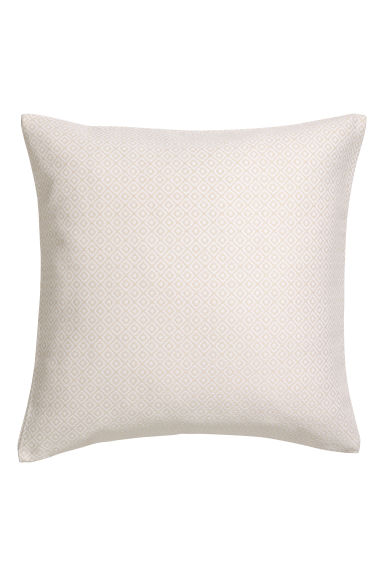 Jacquard-weave cushion cover - Beige - Home All | H&M CN