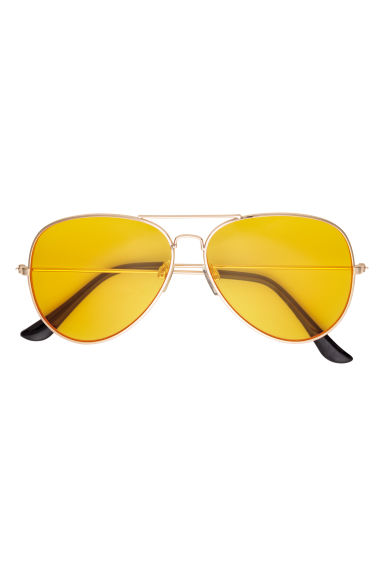 Sunglasses - Gold-coloured/Yellow - Men | H&M CN