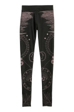 Patterned leggings - Black/Patterned - Ladies | H&M 2