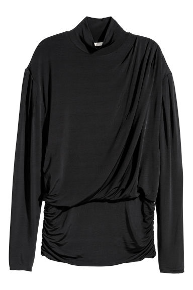Draped top - Black -  | H&M