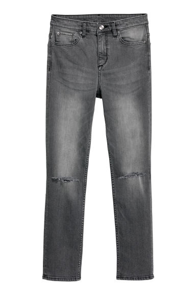 Slim High Ripped Jeans - Zwart washed out -  | H&M NL