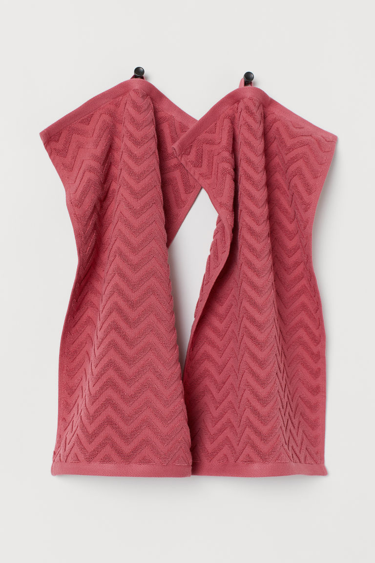 2-pack guest towels - Dark pink - Home All | H&M GB