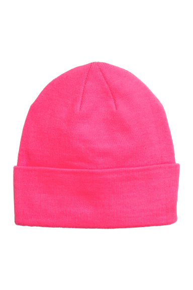 Knitted hat - Neon pink - Ladies | H&M CN