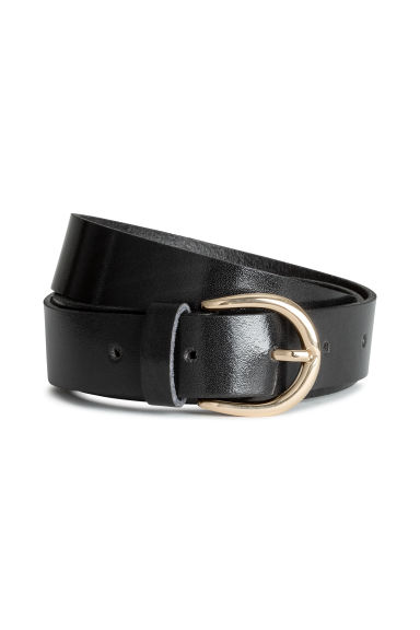 Leather belt - Black -  | H&M CN