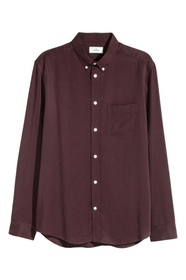 Lyocell shirt - Burgundy - Men | H&M