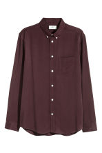 Lyocell shirt - Burgundy - Men | H&M CN 3