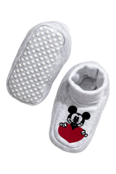 Chaussons - Gris chiné/Mickey - ENFANT | H&M CH