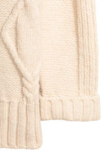Cable-knit jumper - Natural white - Ladies | H&M IE 3