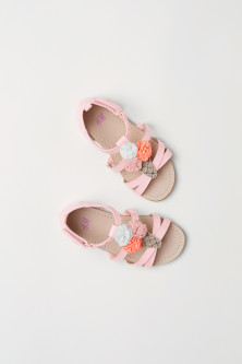 Appliquéd sandals