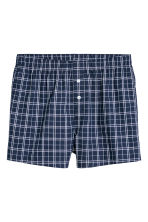 3-pack woven boxer shorts - Bright blue/Checked - Men | H&M CN 3