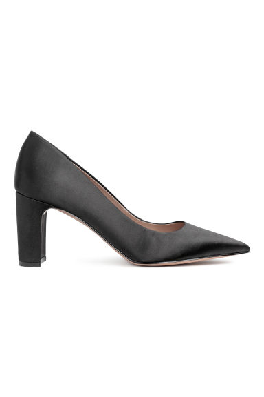 Satin court shoes - Black - Ladies | H&M GB