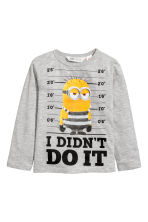 2-pack jersey tops - Grey/Minion - Kids | H&M CN 3