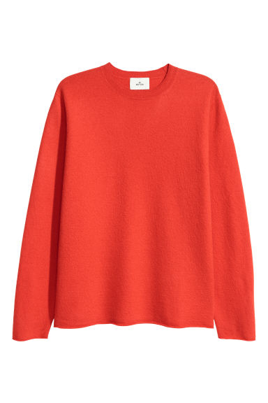 Boiled wool jumper - Orange -  | H&M