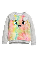 Sweat - Gris clair/multicolore -  | H&M FR 1