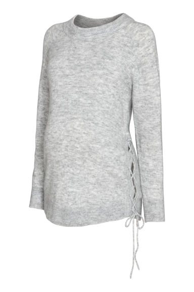 MAMA Jumper with lacing - Light grey - Ladies | H&M CN
