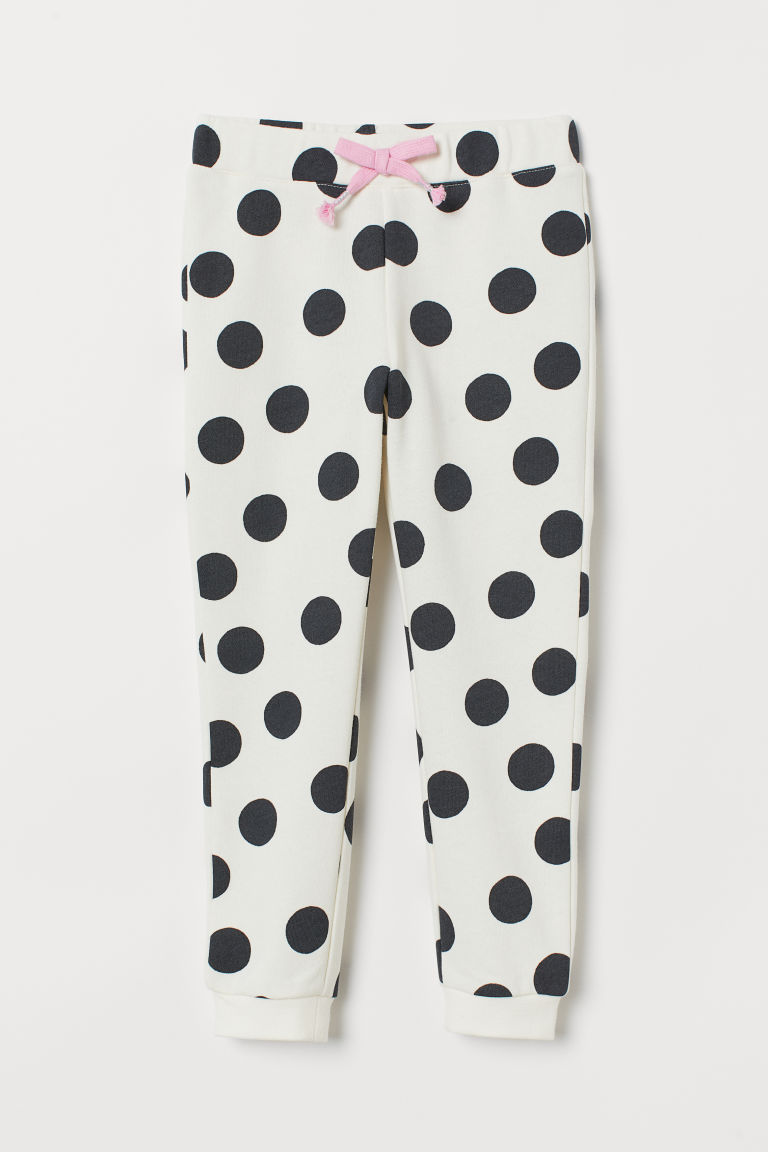 Sweatpants - Natural white/Spotted - Kids | H&M GB