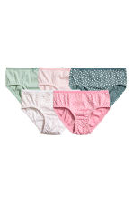 5-pack briefs - Petrol/Spotted -  | H&M 1