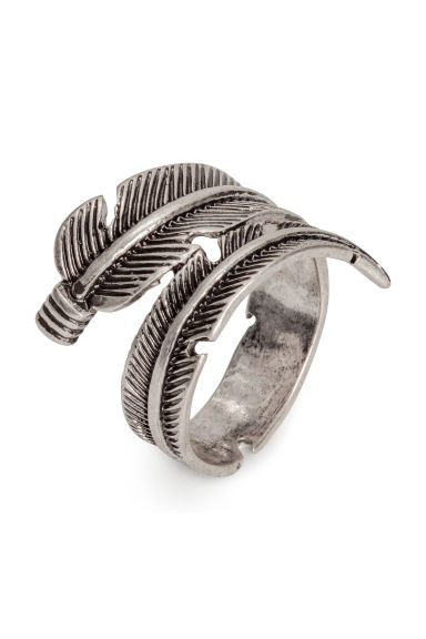 Ring - Silver-coloured/Feather - Men | H&M
