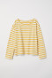 Natural white/Yellow striped