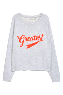Sweat-shirt avec applications
