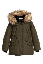 Padded jacket - Dark khaki green - Ladies | H&M CN 2