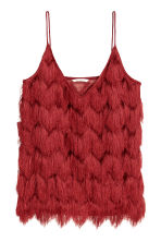 Top with fringes - Red - Ladies | H&M CN 2
