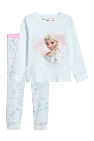 Jersey pyjamas - Light blue/Frozen - Kids | H&M CN
