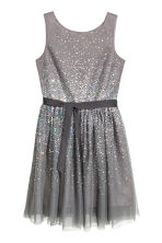 Sequined dress - Dark grey - Kids | H&M CN 1