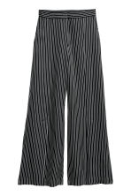 Wide trousers with slits - Black/White striped - Ladies | H&M CN 2