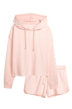 Pyjamas with a top and shorts - Light pink - Ladies | H&M CA 2