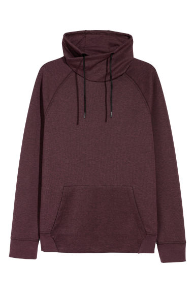 Funnel-collar sweatshirt - Burgundy -  | H&M CN