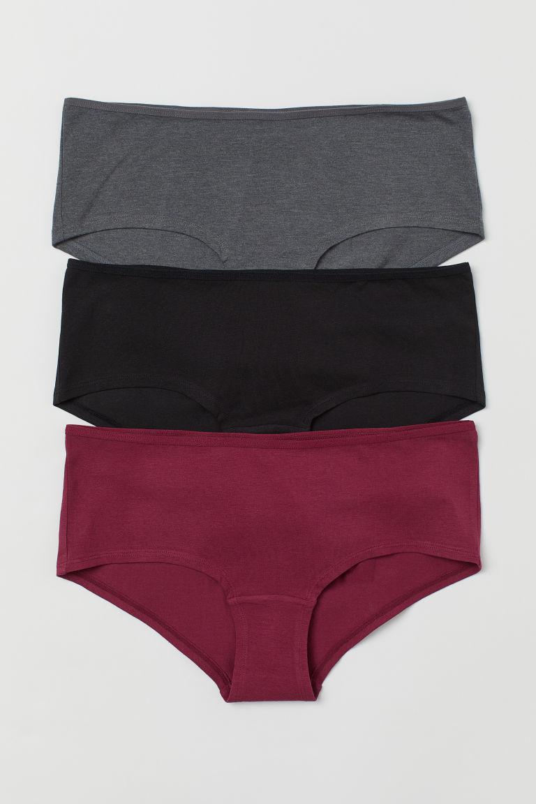 3-pack cotton hipster briefs - Burgundy - Ladies   H&M GB