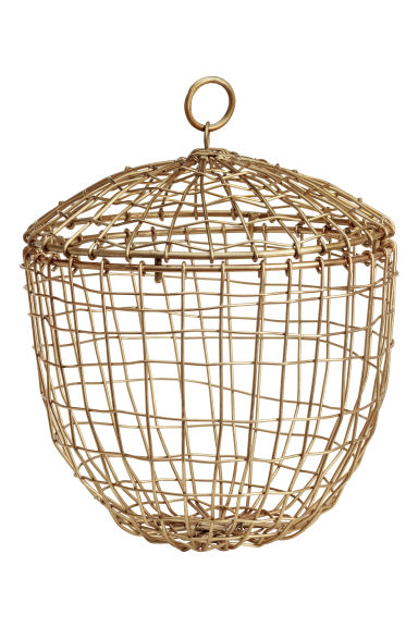 Small metal wire basket - Gold-coloured - Home All | H&M GB