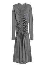 Draped jersey dress - Dark grey marl - Ladies | H&M 2