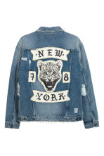Denim jacket - Denim blue/New York - Men | H&M GB 2