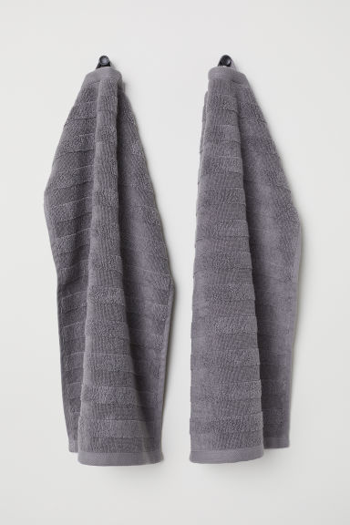 2-pack guest towels - Grey - Home All | H&M CA