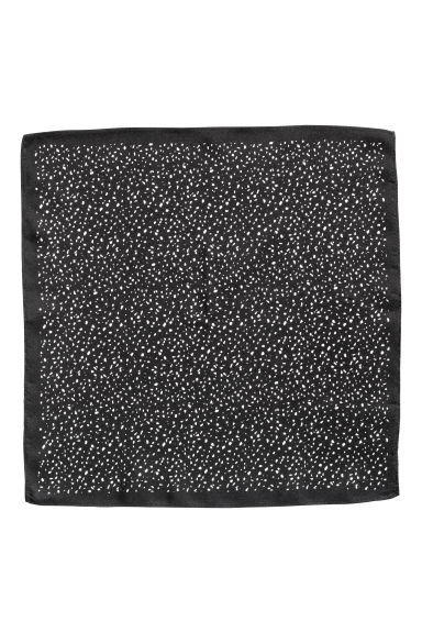 Silk handkerchief - Black/Spotted - Men | H&M CN