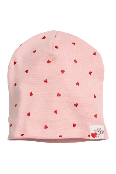 Bonnet en jersey - Rose/cœurs - ENFANT | H&M BE