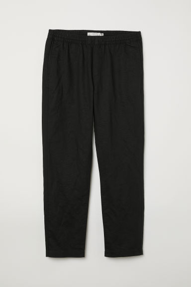 Elasticated linen trousers Model