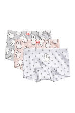 3-pack boxer briefs - Light pink/Miffy - Kids | H&M CN 1